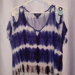Ladies Cold Shoulder Tye-Dye Tunic XXL